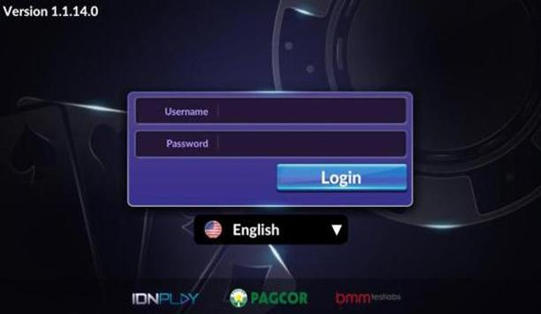 tampilan login idnplay