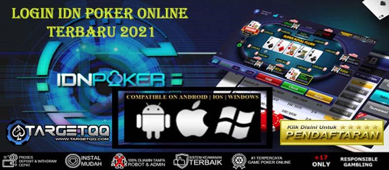 Login IDN Poker Apk Terbaru 2021